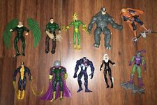 MARVEL UNIVERSE FEARSOME FOES SET VENOM RHINO VULTURE LOT OF 10 ACTION FIGURES