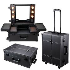 Studio Cosmetic Makeup Show Barber Travel Rolling Case Light Artist Trolley New