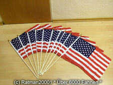 Fahnen Flagge 10 x USA Stockflagge - 30 x 45 cm