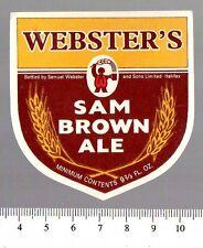 UK Beer Label - Samuel Webster Brewery - Yorkshire - Sam Brown Ale (version a)