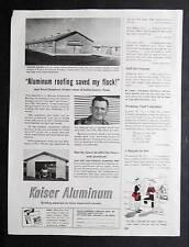 Orig 1953 Kaiser Aluminum Ad Photo Endorse by David Shepherd of Dallas County TX