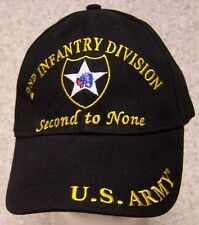 Embroidered Baseball Cap Military Army 2nd Infantry Division NEW 1 size fits all