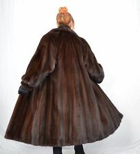 US908 Saga Mink Fur Coat Jacket шуба Mex норка Nerzmantel Nerz Pelzmantel ca. XL