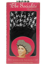 BETTY DAIN The Socialite Collection Houndstooth Shower Cap Model #5270