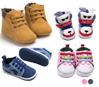 Toddler Girls Boys Lace-up Crib Shoes Newborn Prewalker Soft Sole Sneakers LOT