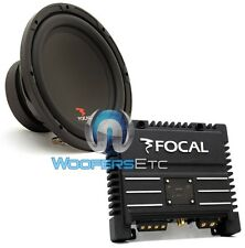 "pkg FOCAL SUB P25 10"" 400W 4-OHM SUBWOOFER SPEAKER + SOLID-2 2-CHANNEL AMPLIFIER"