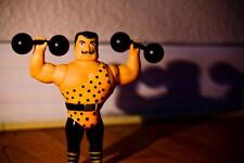 Old Photo.  Toy Action Figure - Weightlifter