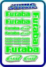 FUTABA SERVO RADIO RX TX 2.4G FLIGHT REMOTE CONTROL STICKERS FASST GREEN WHITE