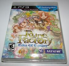 Rune Factory Tides Of Destiny for Playstation 3 Brand New! Factory Sealed!