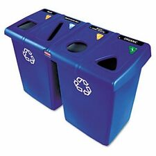 Rubbermaid 1792372 4-Stream Glutton 92 Gallon Recycle Station, Blue (RCP1792372)