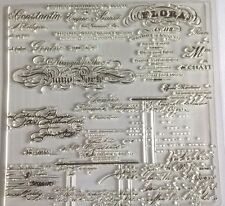 1 Clear Silicone Stamp Card Making Scrapbooking Home Decor Old Script Sayings