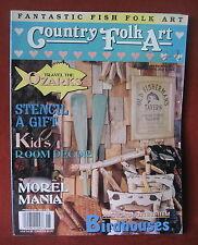 Ozarks Country Folk Art Magazine 1994 Fish Kids Decor Birdhouses Craft Projects