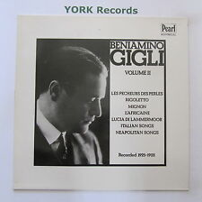 BENIAMINO GIGLI - Volume II - Excellent Condition LP Record Pearl GEMM 165