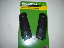 Remington 1911 Standard Size GRIPS Checkered Micarta Wood #19559 Right Handed