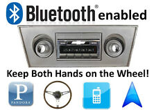 Bluetooth Enabled 66-67 Chevy Nova 300 watt AM FM Stereo Radio iPod, USB inputs