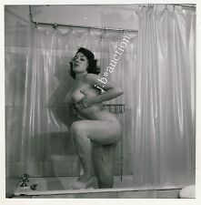 BUSTY NUDE WOMAN AT TUB / NACKTE FRAU IN BADEWANNE * Vintage 50s SEUFERT Photo