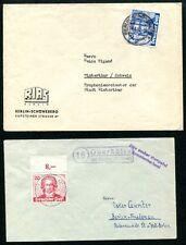 BERLIN 1949 62,63 je schöne BRIEFE EINZELFRANKATUR 360€+(J6907b