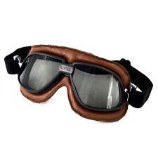 Motorcycle Bikes Cruiser Vintage Aviator Pilot Eyewear Goggles Smoke Lens