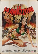14 AMAZONS Italian 4F movie poster 55x79 MARTIAL ARTS SHAW BROTHERS 1973 CASARO