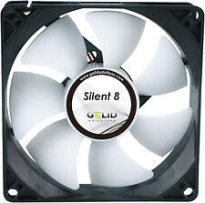 2 Pack of Gelid Solutions Silent 8, Quiet Case Fan, 8cm, 80mm, 1600rpm, 20.7 CFM