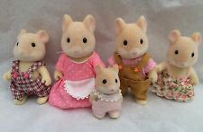 Sylvanian Families HAMILTON HAMSTER FAMILY OF 5 GRIPPING HANDS PLUS CLOTHES