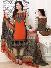 Elegant Crepe Designer Printed Unstitched Dress Material Suit D.No SFD11023