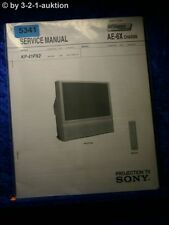 Sony Service Manual KP 41PX2 Projection TV (#5341)