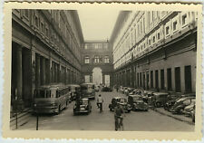 PHOTO ANCIENNE - VOITURE BUS ITALIE FLORENCE PIAZZA UFFIZI -CAR-Vintage Snapshot