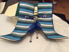 RED OR DEAD Blue Striped Ankle Boots QUEENIE 7 Hardly Worn RRP £90