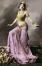 VINTAGE MATA-HARI FRENCH BELLY DANCER SEXY COSTUME NEAR NUDE WWI SPY PHOTO 6