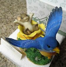 "Charming Tails ""SPRING IS IN THE AIR"" FITZ FLOYD Figurine NIB"