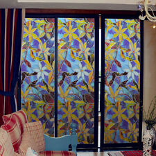 Self Adhesive PVC Color Orchid Window Film Protect  Glass DIY Sticker Home Decor