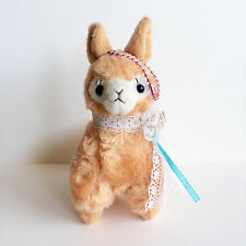 AMUSE Brown Llama Girl Oshare Lace Arpakasso (12cm) Alpaca Alpacasso Plush TTO