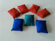 """Heavy Duty 7 x Bean Bags 4x3"""" Childrens School Toy Games Bag Play Group Outdoor"""