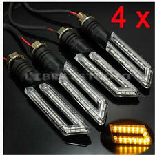 4x 15 LED Mini Motorcycle/Bike Turn Signal Indicators Amber Blinker E-mark
