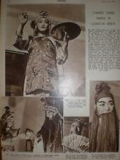 Article Chinese opera Westminster Theatre London 1947