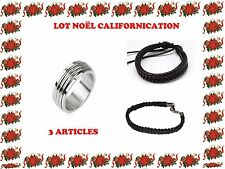 Lot Noël Californication Lot bague Hank Moody et 2 bracelets californication
