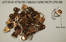 LOT DE 50 ATTACHE ACCROCHE TABLEAU CADRE PHOTO COULEUR BRONZE ANTIQUE 21*13 MM