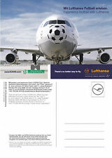 LUFTHANSA AIRLINES AIRBUS A 340 300 FOOTBALL ADVERTISING UNUSED COLOUR POSTCARD