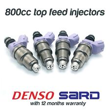 4 NEW DENSO 800cc FUEL INJECTORS for MITSUBISHI EVO 1 2 3 4 5 6 7 8 9 SARD 63564