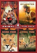 "Animal Fun Pack: Buddy/Sylvester/Born Free/Living Free: DVD: ""BRAND NEW, UNSEALD"