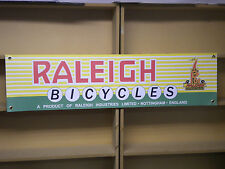 Raleigh bicycle vintage retro look advertising banner