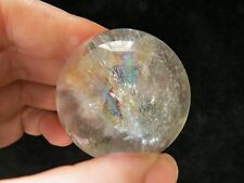 rainbow natural green phantom transparent quartz crystal sphere ball
