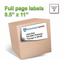 """750 8.5"""" x 11"""" Full Page Shipping Labels - Super Sticker - Made in the USA"""