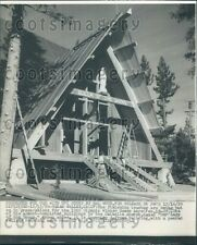 1959 Our Lady of The Snows Church Winter Olympics Squaw Valley CA Press Photo