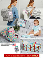 SEWING PATTERN! MAKE BABY DIAPER BAG/BACKPACK~CADDY~CARRIER TENT~NURSING SHAWL!