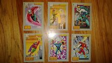 "DC COMIC COVERS 1991  ""HERO  HERITAGE"" 6 Cards in  Good Condition"