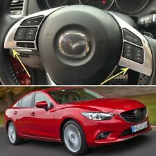 New Chrome Car Steering Wheel Cover Decoration Trim Fit for Mazda 6 Atenza 13-15