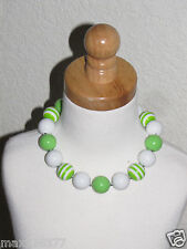 New Acrylic Chunky Beads Bubblegum Gumball Jewlery Necklace green girl child