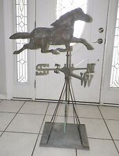 "VINTAGE ANTIQUE TURN OF THE CENTURY RUNNING HORSE WEATHER VANE 45"" TALL"